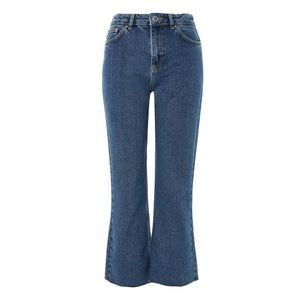 Topshop Boutique Cropped Kick Flare Jeans